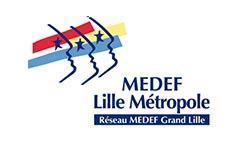 Partenaire éclat de toi le logo du MEDEF